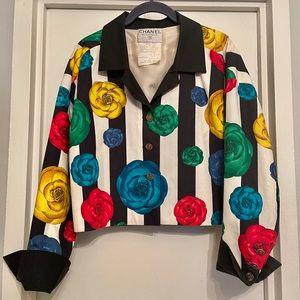 Chanel vintage cotton floral jacket
